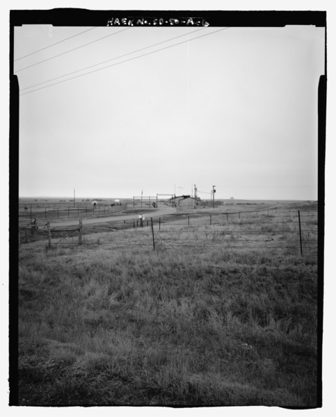 File:Approach road, looking southwest - Ellsworth Air Force Base, Delta Flight, Launch Control Facility, County Road CS23A, North of Exit 127, Interior, Jackson County, SD HAER SD-50-A-6.tif