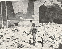 Arab Legion soldier in ruins of Hurva.jpg