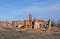 Aragó, vista del poble vell de Belchite.JPG