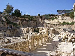 Excavations at the Temple Mount - Excavations adjacent to Robinson's Arch