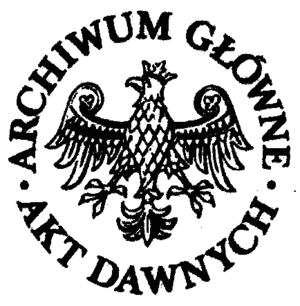 Central Archives of Historical Records - Image: Archiwum Główne Akt Dawnych logo gray