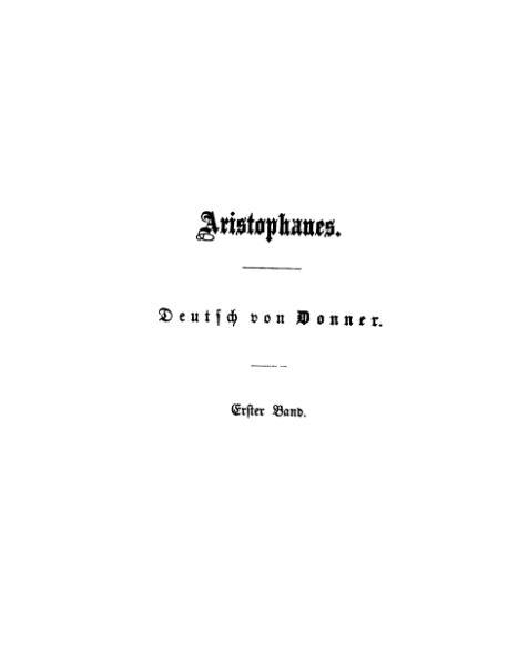 File:Aristophanes Donner 3Bd.djvu