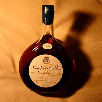 Baco blanc - A bottle of 1956 Armagnac made when Baco blanc was the primary grape variety of the region