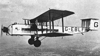 Armstrong Whitworth Argosy - An Argosy Mk I of Imperial Airways in 1926. This particular aircraft (G-EBLF) bore the name City of Glasgow.