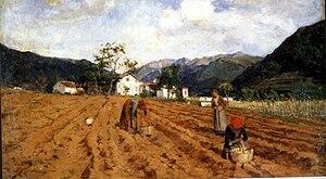 Luigi Nono (painter) -  Potato harvesting. (1877)