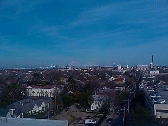 Arthur Ravenel Jr. Bridge - View from atop the MUSC Parking Garage facing northeast
