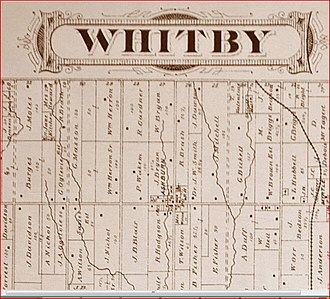 Ashburn, Ontario - Image: Ashburn Whitby Township Ontario The Illustrated Historical Atlas of the County of Ontario Toronto Beers 1877