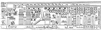 Panehesy - Depiction of the temple of the Aten from Panehesy's tomb