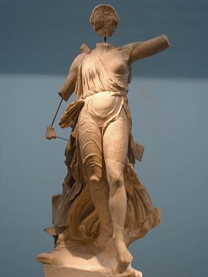 Paeonius - Nike by Paeonius, Archaeological Museum of Olympia, Greece