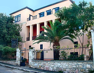 Eduard Schaubert - The house of Schaubert and Kleanthis in Plaka, now the Athens University Museum