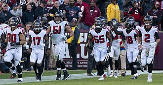 Alex Mack - Mack and his teammates in a game against the Washington Redskins