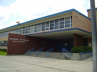 Worthing High School (Houston) - The current campus for Attucks Middle School served as Worthing's first campus