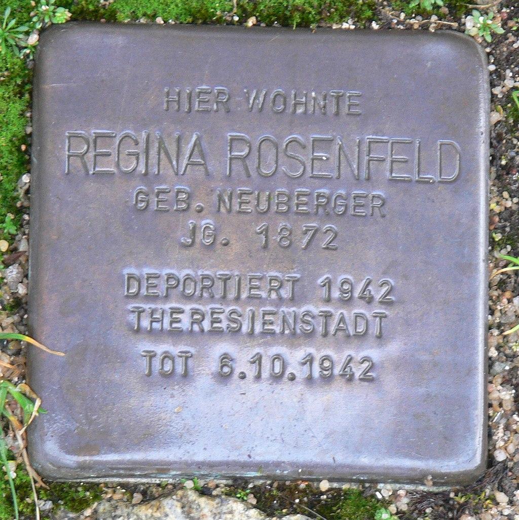 Aub - Stolperstein Rosenfeld, Regina.jpg
