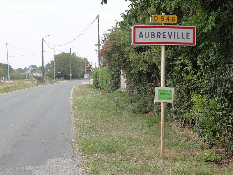 Aubréville (Meuse) city limit sign