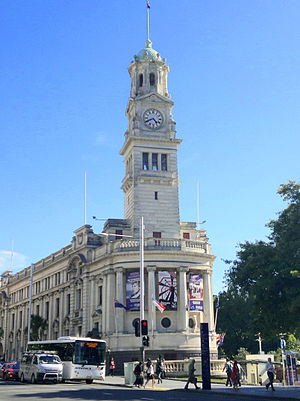 Auckland Town Hall - Exterior of venue viewed from Queen Street