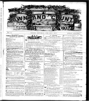 Australian Town and Country Journal - Image: Australian Town & Country Journal 8 January 1870