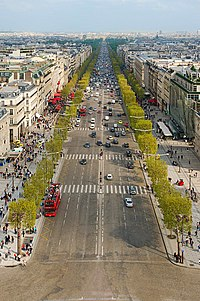 Avenue des Champs-Elysées from top of Arc de triomphe Paris.jpg
