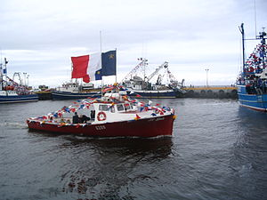 The blessing of the fishing fleet in Caraquet ...