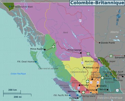 Colombie britannique wikivoyage le guide de voyage et de tourisme collaboratif gratuit - Office de tourisme britannique ...