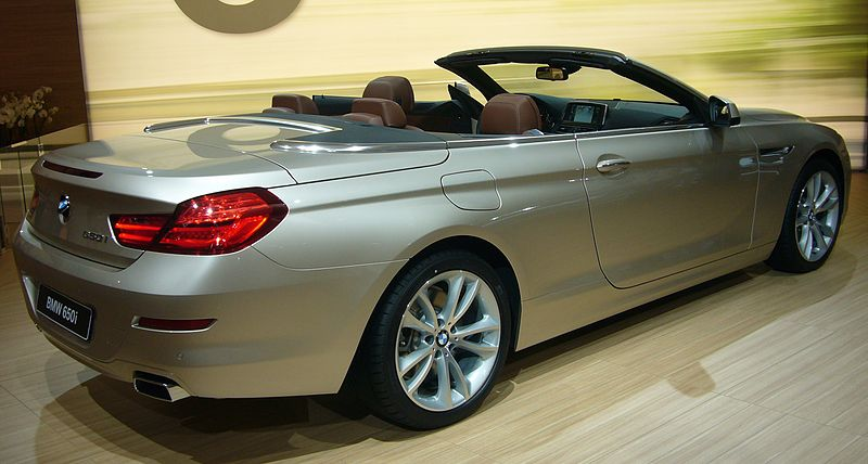 File:BMW 6 Series Convertible (rear quarter).jpg