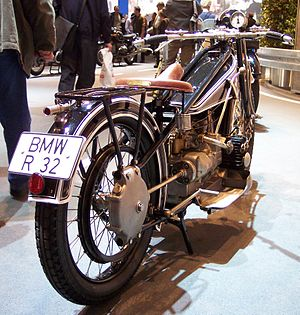 Drive shaft - The exposed drive shaft on BMW's first motorcycle, the R32