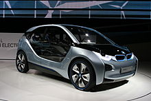 Bmw I3 Concept Car Exhibited At The 2017 International Motor Show Germany