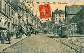 Le Tramway Dans La Grand Rue (centre Ville).