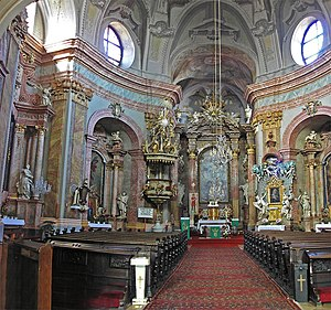 Old Cathedral of Saint John of Matha and Saint Felix of Valois - Interior of the Trinitarian Church in Bratislava