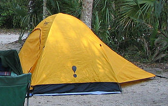 A small, two-person, backpacking tent Backpacking Tent.jpg