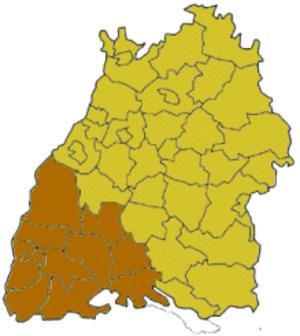 Freiburg (region) - Image: Baden Wuerttemberg rbfreiburg