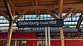 Bahnhofsschild Oldenburg Hauptbahnhof 1903190927.jpg
