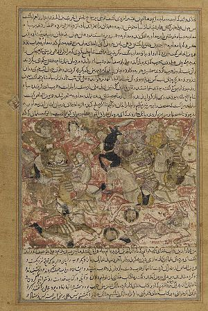 Hasan ibn Ali - The Battle of Siffin, in which followers of Caliph 'Ali, including Al-Hasan, fought the party of Mu'awiyah.