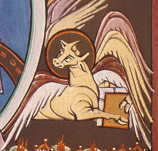 File:BambergApocalypseFolio010vWorshipBeforeThroneOfGod-DetailOx.jpg