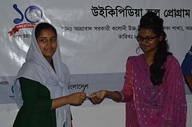 Bangla Wikipedia School Program at Agrabad Government Colony High School (Girls' Section) 22.JPG