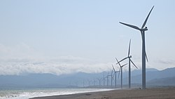 Bangui Wind Farm in Bangui, Ilocos Norte
