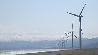 Ilocos Region - Image: Bangui Windmills, East View, Ilocos Norte, Philippines panoramio