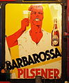 Barbarossa Pilsener enamel advertising sign.JPG