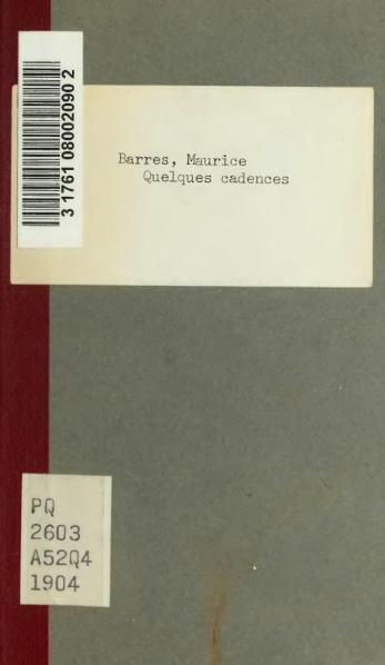 File:Barrès - Quelques cadences, 1904.djvu