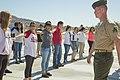 Barstow Marines teach Drill and Ceremonies skills at Yermo School 160512-M-DU308-001.jpg