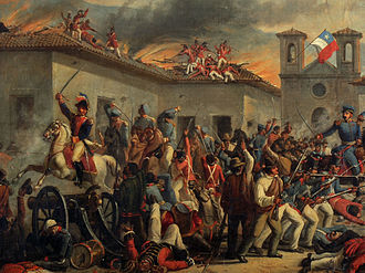 Spanish American wars of independence - The Battle of Rancagua in 1814