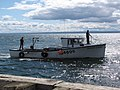 Bateau revenant de la pêche, vers le quai de Carleton-sur-Mer - panoramio.jpg