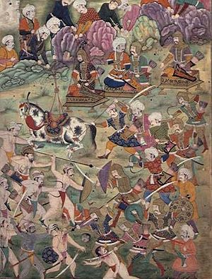 Battle of Ankara - Battle of Ankara, Mughal illustration