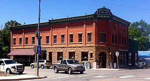 National Register of Historic Places listings in Montezuma County, Colorado - Image: Bauer Bank Block Mancos Colorado
