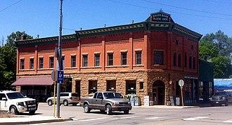National Register of Historic Places listings in Montezuma County, Colorado - Image: Bauer Bank Block Mancos Colorado