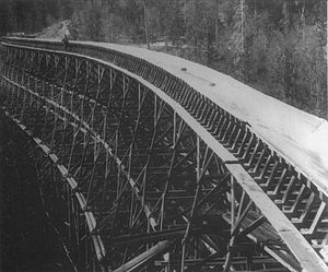 Adams River (British Columbia) - Bear Creek flume, c.1910