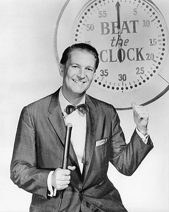 Beat the Clock - Bud Collyer as the show's host, 1958.