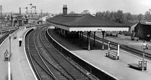 Beccles railway station - Beccles railway station in 1963