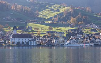 Beckenried - Beckenried waterfront in early november