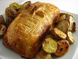 English: Beef Wellington.