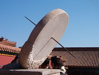 Man Enters the Cosmos - A standard unmodified equatorial sundial